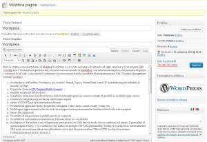 wordpress. aggiornamento del sito
