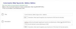 Come inserire i Meta tag