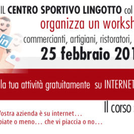 Workshop Social Media Marketing alla Circoscrizione 9 di Torino – Lingotto