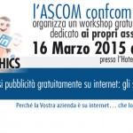 <!--:it-->ASCOM- Come farsi pubblicità gratuitamente su internet: gli strumenti di Google e Facebook  <!--:-->
