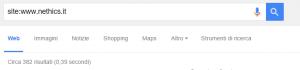 codice Google: site