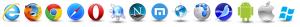 Icone diversi browser