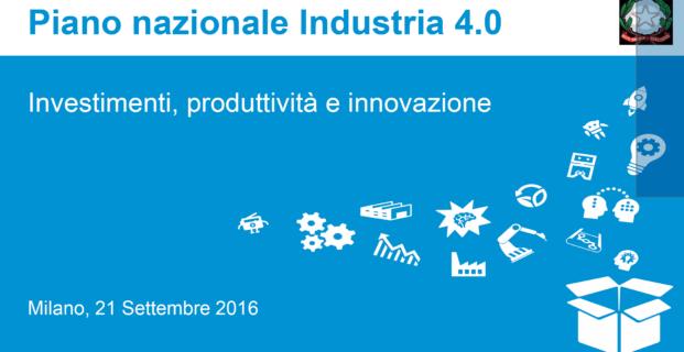 Piano nazionale Industria 4.0 – il superammortamento del 250%