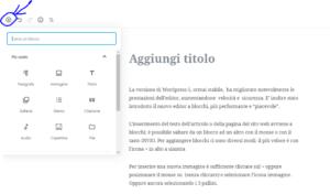 Come aggiungere un blocco nel nuovo editor di WordPress