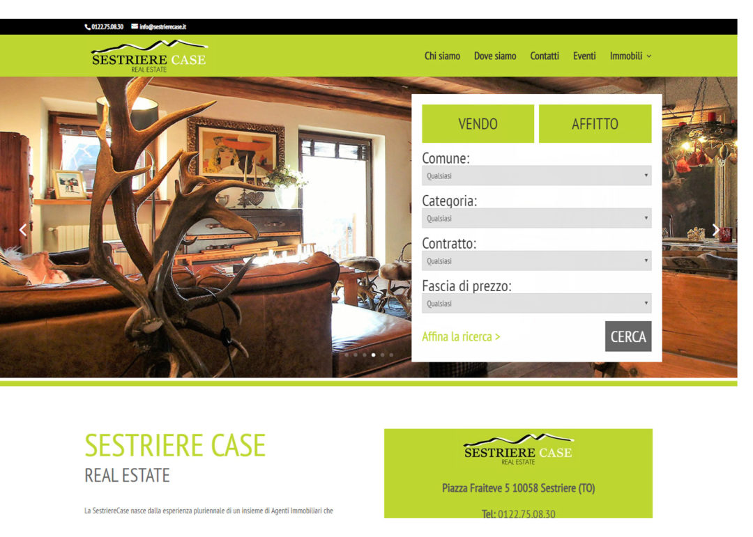Sestriere Case - Web Site per Agenzie Immobiliari