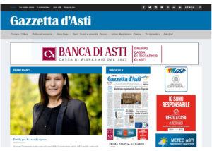 Portale web per testata giornalistica cattolica: Gazzetta d'Asti