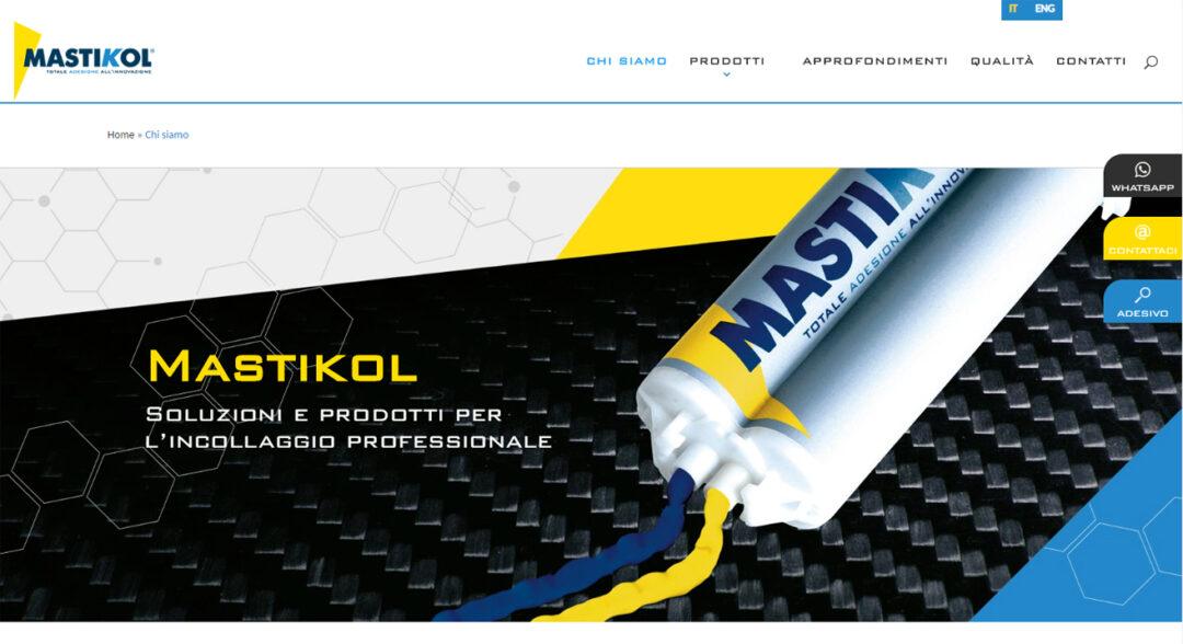 Mastikol restyling sito web