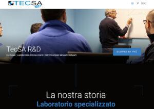 Sito web per società Tecsa R&D