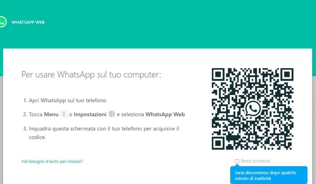 Come effettuare l'accesso a WhatsApp Web