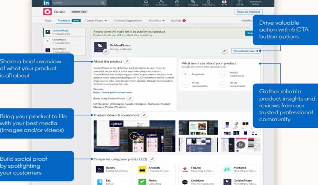 LinkedIn Product Page: disponibile in Italia!