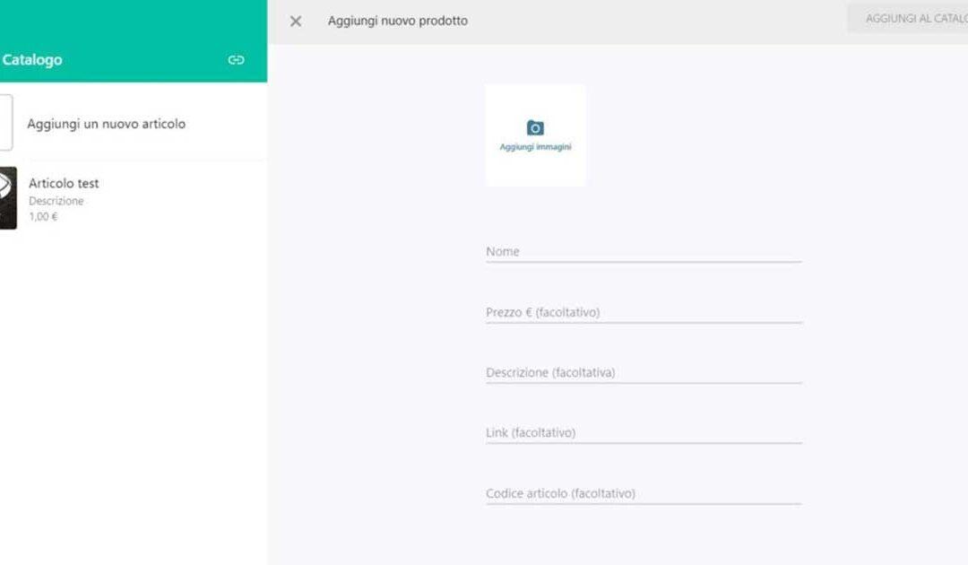 WhatsApp Business: il catalogo si può aggiornare da WhatsApp Web