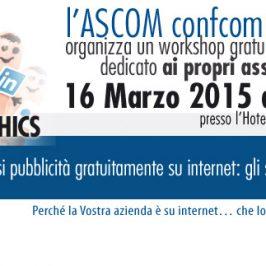 ASCOM- Come farsi pubblicità gratuitamente su internet: gli strumenti di Google e Facebook
